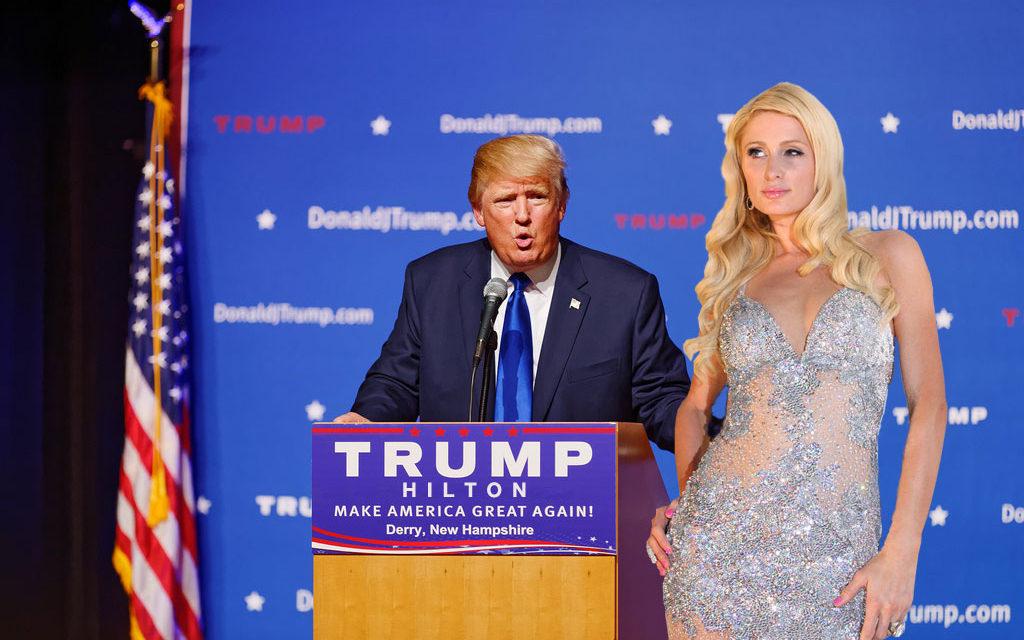 Paris Hilton Donald Trump'a mı oy verdi?
