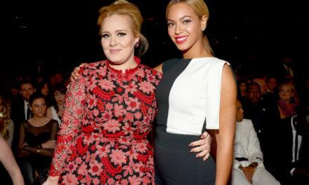Adele ödülünü Beyonce ile paylaştı!